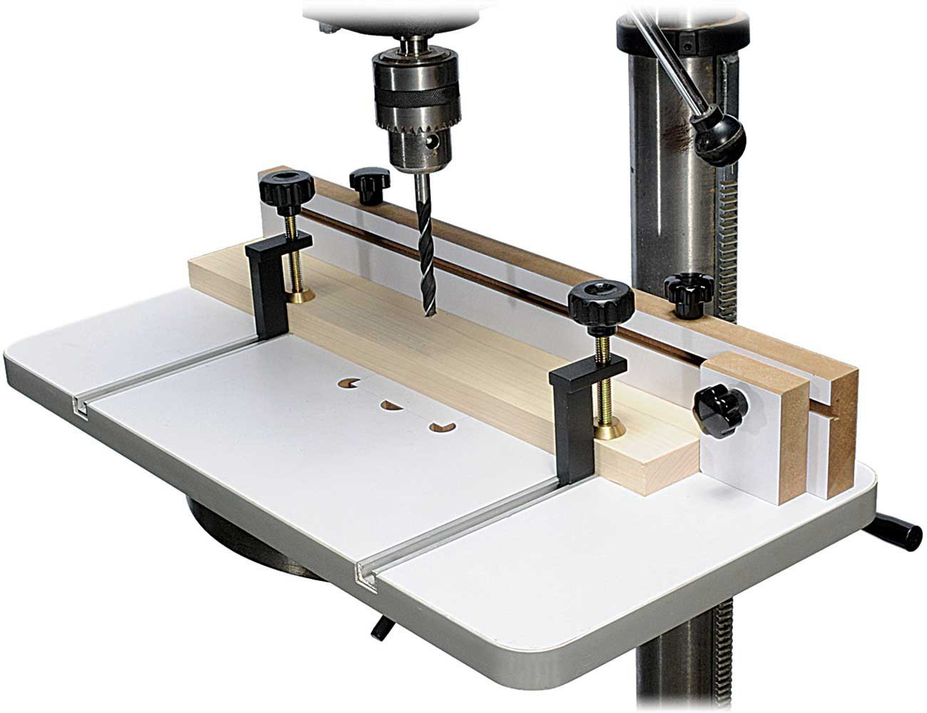 MLCS 2326 Drill Press Table and Fence with T-Track