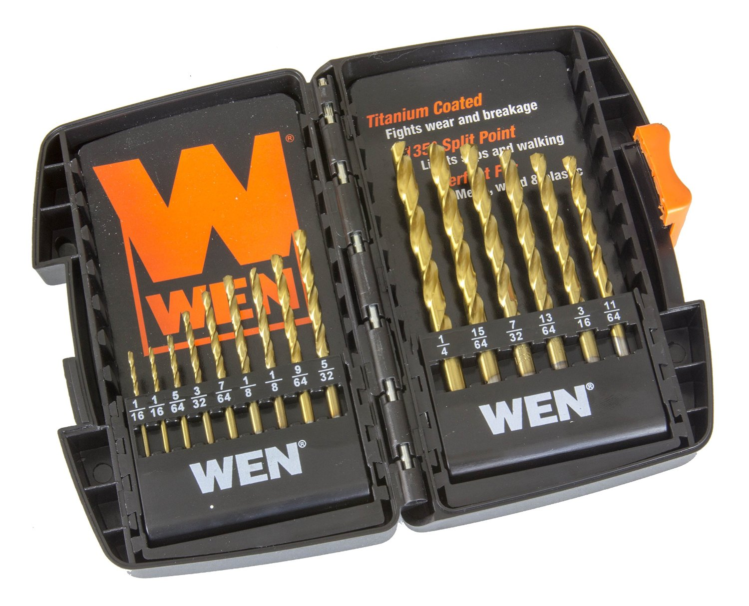 WEN DB15 Titanium-Coated Drill Bit Set 15 Piece