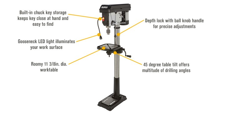 Klutch drill press review