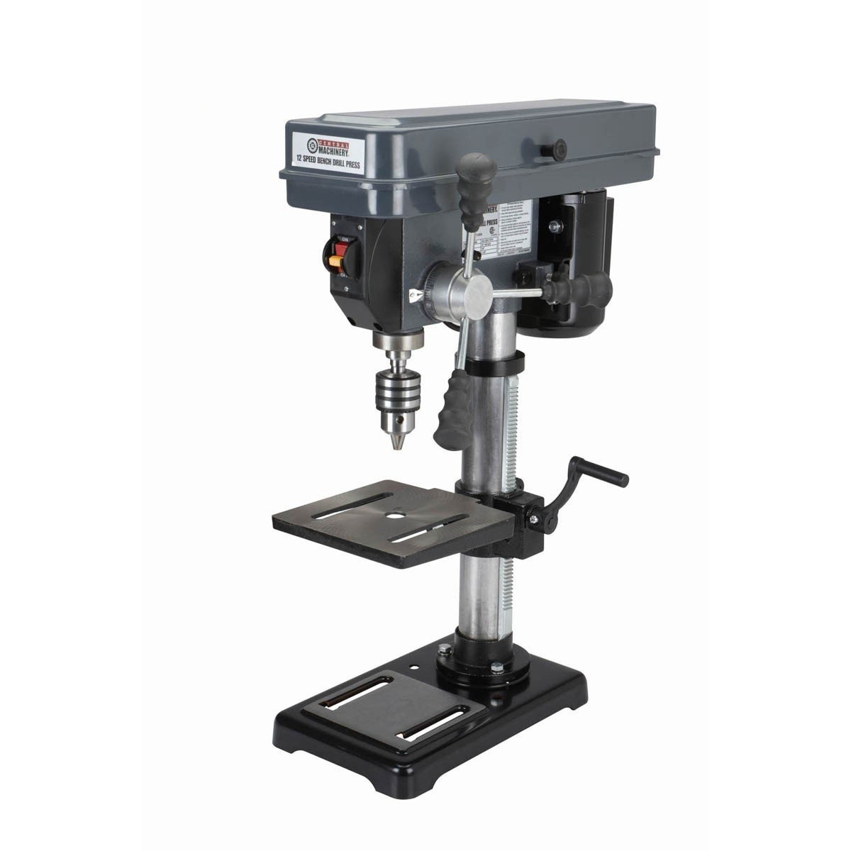 10 in. Bench Mount Drill Press, 12 Speed by Central Machinery