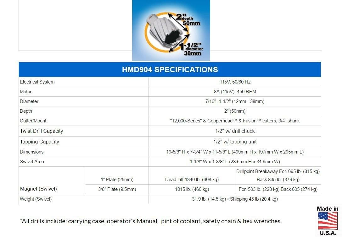 Hougen HMD904S drill press