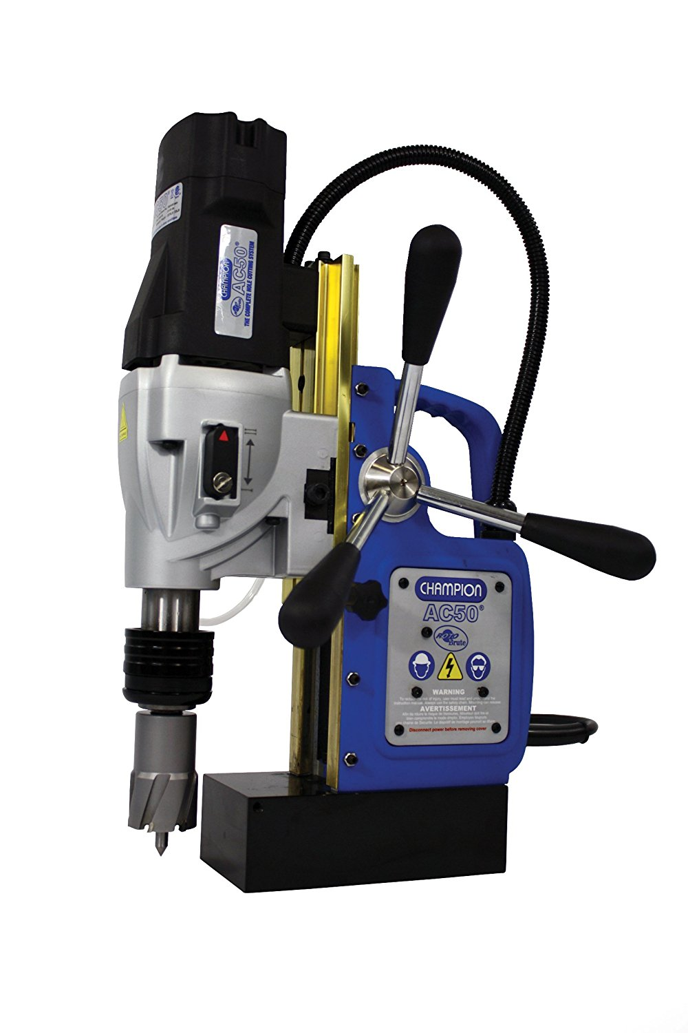 Champion Cutting Tool RotoBrute MightiBrute AC50 Portable Magnetic Drill Press: Up to 2-1/8