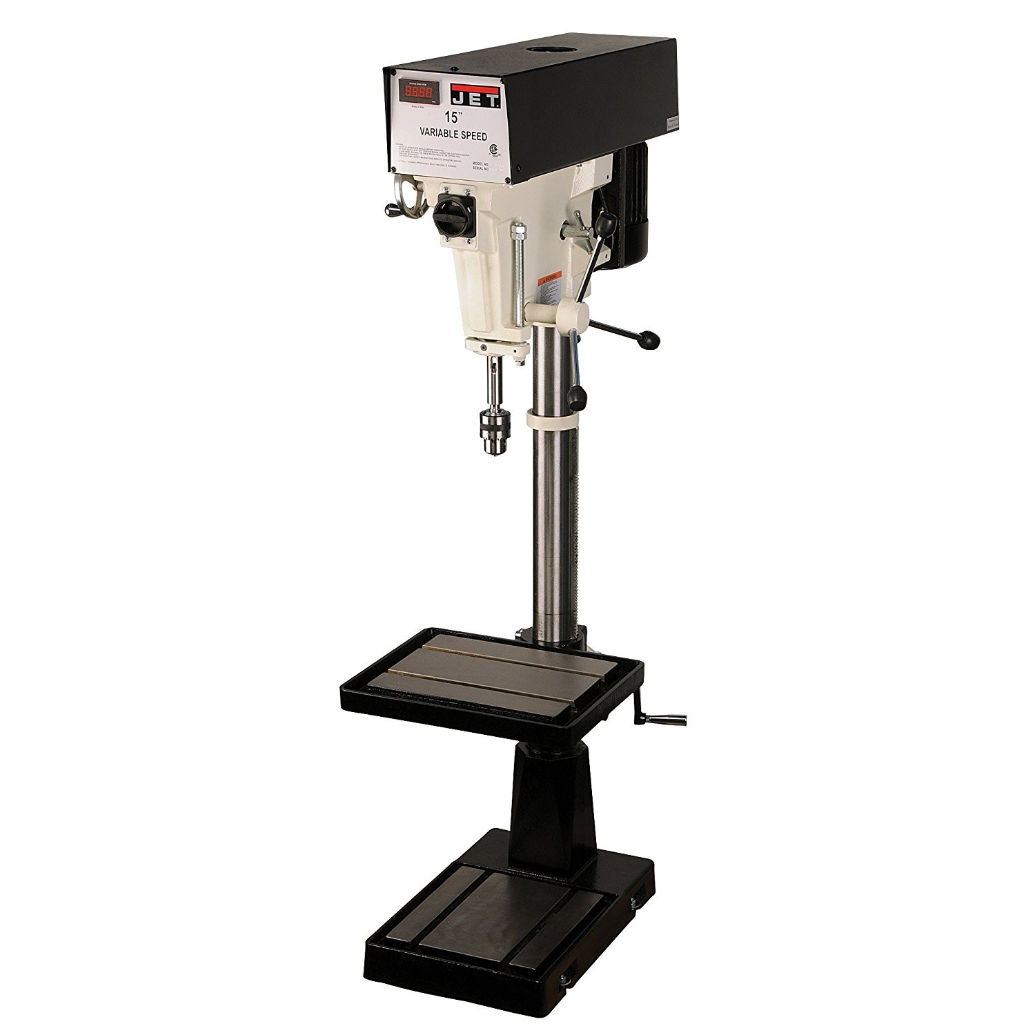 JET J-A5816 15-Inch 1-Horsepower 115/230-Volt Single Phase Variable Speed Floor Drill Press