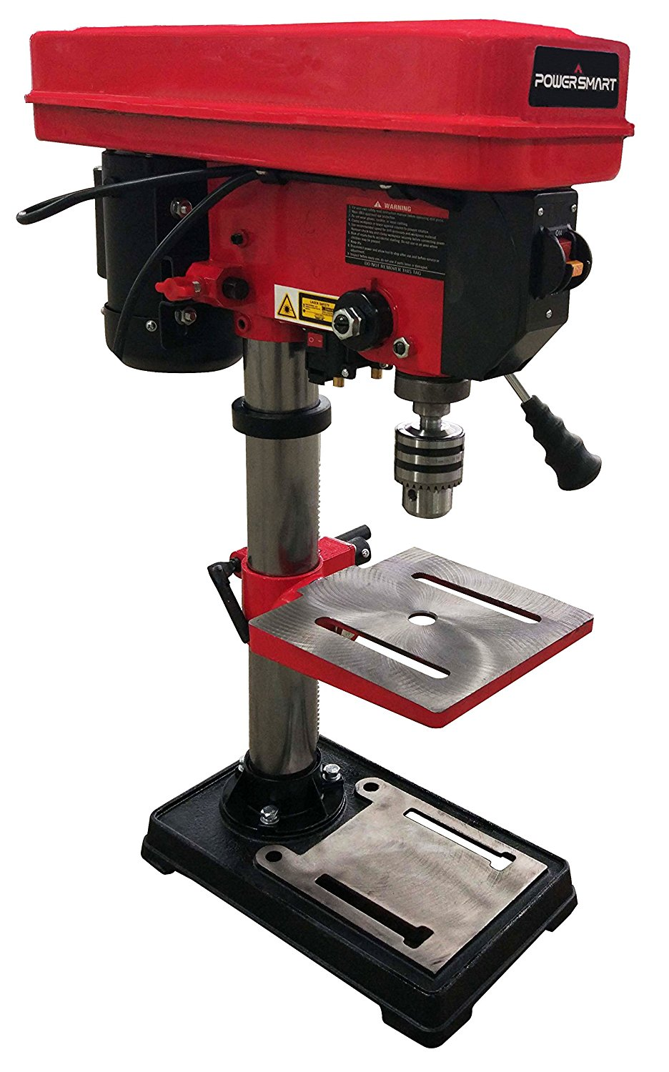 PowerSmart PS310 12-Speed Drill Press with Laser Guide, 10