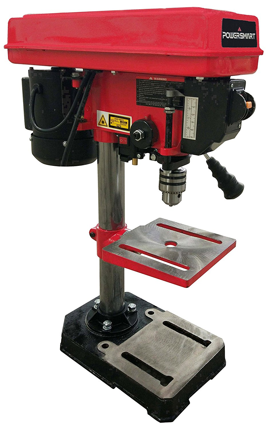 PowerSmart PS308 5-Speed Drill Press with Laser Guide, 8