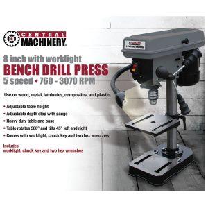 Bench Mount Drill Press 8-inch